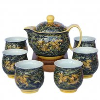 Long You Si Hai - Bone China Tea Set