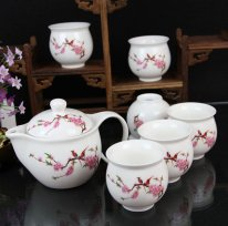 Qin Hua Ci - Whiteness Porcelain Tea Set