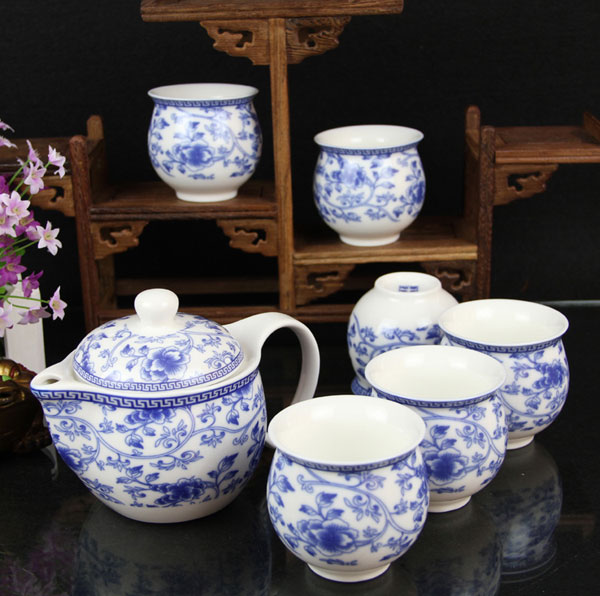 Qin Hua Ci - Whiteness Porcelain Tea Set - Click Image to Close